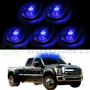 5pcs Cab Roof Marker Light Smoke W 12v Led For 2003 2016 Dodge Ram 2500 3500