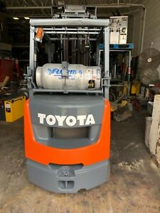 2014 Toyota 8fgcu25 Forklift Fork Lift With Side Shift And Four Stage Mast
