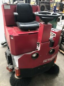 Used Factory Cat Xr 40 Disk Rider Floor Scrubber Sweeper