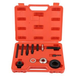 13pc Kit Power Steering Pump Remover Alternator Ac Pulley Puller Installer Tools