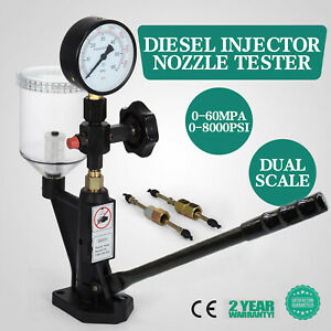 0 8000psi Diesel Fuel Injector Nozzle Tester Pop Pressure Tester Dual Scale