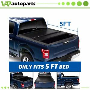Blk Tonneau Cover For 2005 2015 Toyota Tacoma 5ft Bed Soft Waterproof Tri fold