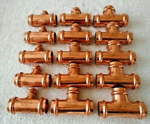 1 Copper Propress Tees Jw Press Fittings 10 6 50 Each Free Priority Ship