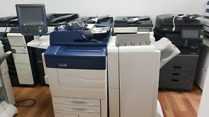 Xerox Color C60 Commercial Laser Printer Copier Scan Fiery Finisher 60ppm