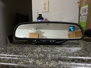 Gentex 511 Auto Dim Mirror With Compass Temp Rare W Pigtails Sensor Wire Cover