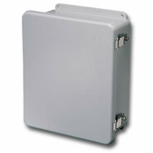 Stahlin Electrical Fiberglass Enclosure box J100806hpl 10x8x6 With Back Panel