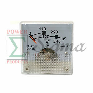 Panel Voltmeter De 450 For Champion Cpe 6875 5500 Watts Generator 120 240v Ac