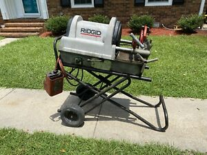 Ridgid Model 1822 Power Threading Machine With Stand
