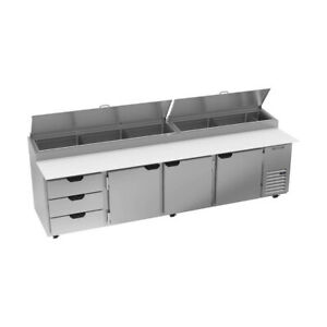 Beverage Air Dpd119hc 3 119 Pizza Prep Table Refrigerated Counter