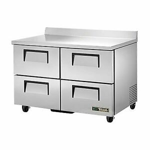 True Twt 48d 4 hc 48 Work Top Refrigerated Counter