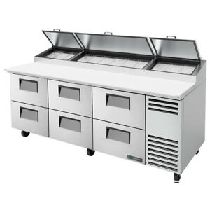 True Tpp at 93d 6 hc 93 Pizza Prep Table Refrigerated Counter