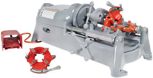 Reconditioned Ridgid 535 V1 Pipe Threading Machine With 2 811 Die Heads