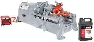 Reconditioned Ridgid 535 V1 Pipe Threading Machine 811 Die Head Dies And Oil