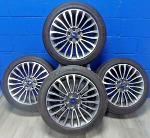 Set Of Ford Fusion 17 18 Rims 10121 Michelin Energy Saver A s Tires 235 45r18