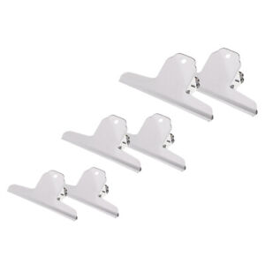 6x Bulldog Metal Clips Hinge Clips For Paper Organizers Photo Wall Office Decors