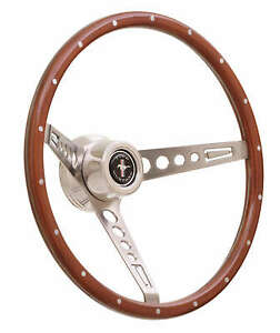 Gt Performance Products 35 5457 Wood Mustang Steering Wheel With 15 Od
