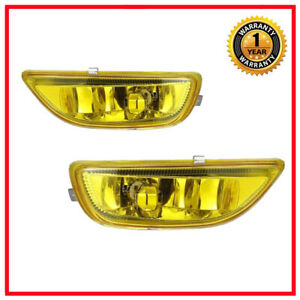 2x Yellow Bumper Driving Fog Lights Lamps For 2001 2002 Toyota Corolla