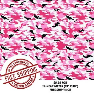 Hydrographic Film Hydro Dip 1 Linear Meter Pink Camouflage Girly Camo Dip Film