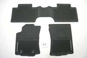Oem Black All Weather Front Rear Floor Mats Toyota Tacoma D Cab 16 17 Nice Mt