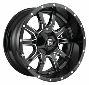 4 new 17 Fuel D627 Vandal Wheels 17x9 6x135 6x5 5 1 Gloss Black Milled Rims