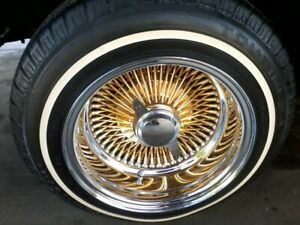 4 P175 75r 14 Inch White Wall Tires 3 4 Ww Band Thin Lowrider Low Rider New