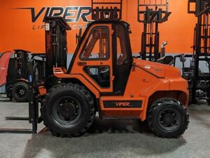 2020 Viper Rt80 8000lb Air Pneumatic Rough Terrain Forklift Diesel Lift Truck