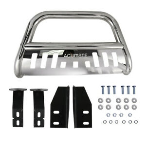 For 07 18 Toyota Tundra Front Bumper Bull Bar Grille Guard Stainless Steel