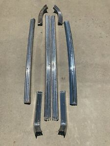 1957 1958 Ford Ranchero Bed Stainless Trim Rail Tailgate Molding 57 58