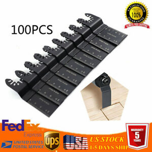 Universal 100 Pcs 34mm Oscillating Multi Tool Saw Blades Carbon Steel Cutter Diy