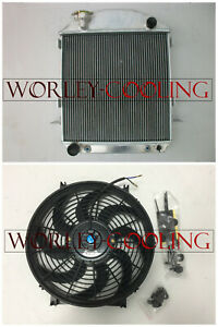 3 Row Aluminum Radiator And Fan For 1924 1927 Ford Model T Bucket Grill Shells