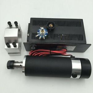 600w Er16 Dc Air cooled Spindle Motor mach3 Speed Control Power Supply bracket