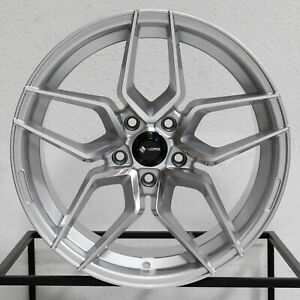 4 new 18 Vors Lp1 Wheels 18x8 5 18x9 5 5x114 3 35 35 Silver Machined Staggered