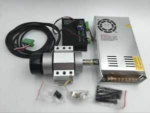 400w Er11 Spindle Motor Dc Brushless power Supply mount Bracket Cnc Router Mill