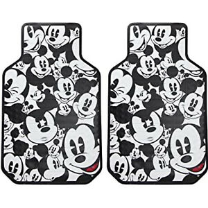 New Disney Mickey Mouse Faces Front Plasticlear Floor Mats Set Of 2 Universal