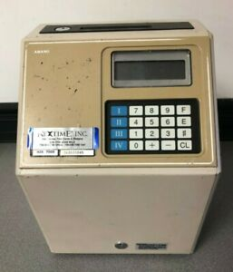 Amano Microder Mjr 7000 Digital Computerized Employee Time Card Punch Clock