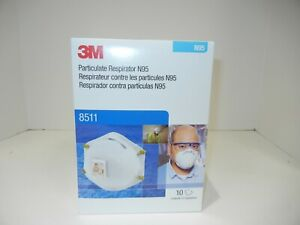 3m Model 8511 N95 Face Masks 10 Count New In The Box Expiration June 2025