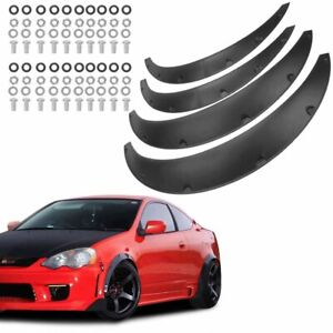 4pcs 890mm W bolts Universal Car Fender Flares Extra Wide Body Wheel Arches Pu
