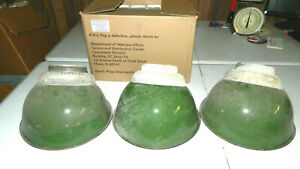 3 Vtg Crouse Hinds Explosion Proof Industrial Porcelain Enamel Light Fixture Lot