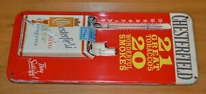 Vintage Chesterfield Cigarette Thermometer Advertising Sign