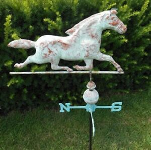 Antique Large Copper Running Horse Weathervane