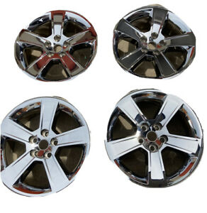 Set Of 4 Dodge Charger 18 Wheel Rim Chrome Clad Factory Stock 2295 2006 2010