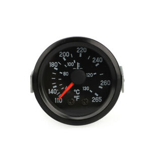 2 52mm Universal Celsius Water Temperature Gauge Meter With Sensor Fahrenheit