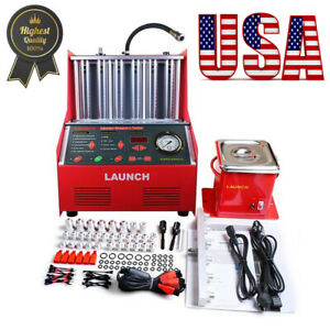 Launch Cnc602a 6 Cylinder 110v Ultrasonic Fuel Injector Cleaner Tester Machine