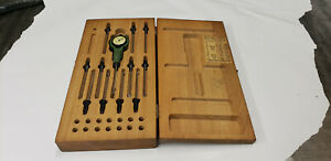 Federal 1203p 1 r1 Testmaster Indicator Small Hole Bore Gage Set In Wood Box