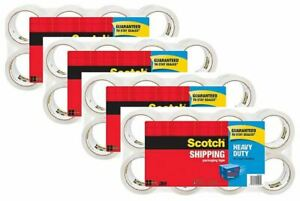 Scotch Heavy Duty Shipping Packaging Tape 8 Pack 1 88 In X 43 7 Yd Free Ship