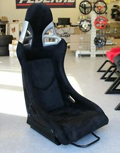 Snc Tuning G9 Fixed Back Racing Full Bucket Seat Black Suede Carbon Fiber