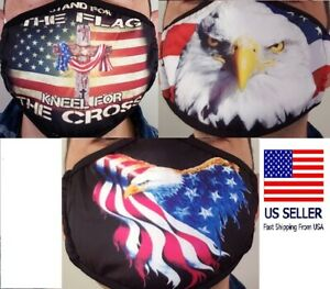Patriotic Face Mask Protective American Eagle Flag Adult Size High Quality Masks