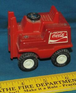 Buddy L Coca Cola Toy Fork Lift - missing part coke