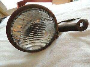 Vintage Dietz No 909 Driving Lights W mounting Bracket Untested Sealed Fog Lamp
