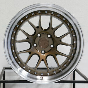 4 new 18 Aodhan Ds06 Ds6 Wheels 18x9 5 18x10 5 5x114 3 15 15 Bronze Staggered R